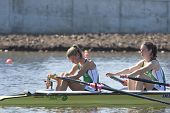 MONTEMOR-O-VELHO, PORTUGAL 10/09/2010. Irish team, LAMBE Claire MCCROHAN Siobhan,, competing in the