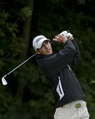 SAINT-OMER, FRANCE. 19-06-2010, David Vanegas (COL) on the third day of the European Tour, 14th Open de Saint-Omer, part of the Race to Dubai tournament and played at the AA Saint-Omer Golf Club .