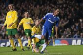 LONDON ENGLAND 23-11-2010. Chelsea's midfielder Florent Malouda in action during the UEFA Champions