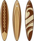 surfboards wood vector
