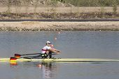 MONTEMOR-O-VELHO, PORTUGAL 11/09/2010. SCHULZE Karl (GER), competing in the Men's Single Sculls at t
