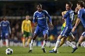 LONDON ENGLAND 23-11-2010. Chelsea's midfielder Ramires and Chelsea's midfielder Josh McEachran in a