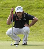 SAINT-OMER, FRANCE. 17-06-2010, Martin Wiegele (AUT) on the first day of the European Tour, 14th Open de Saint-Omer, part of the Race to Dubai tournament and played at the AA Saint-Omer Golf Club .