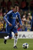 LONDON ENGLAND 23-11-2010. Chelsea's defender Paulo Ferreira in action during the UEFA Champions Lea