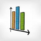 Infographic Vector Business Diagram Graphs Doodles