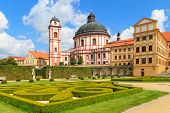 Jaromerice Palace, Cathedral And Gardens In Southern Moravia, Czech Republic