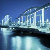 Rambla De Mar bridge. Barcelona