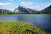 Mount Rundle And Vermilion Lakes In Spring,canadian Rockies,canada