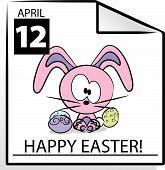 Vector Happy Easter Calendar Page