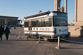 Police Bus On Tiananmen Square. Beijing. China