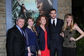 Nicholas Hoult and family at the