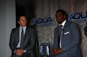 Mark Wahlberg, Sean Combs at an Announce of their New Venture, AQUAhydrate, Private Location, Los An