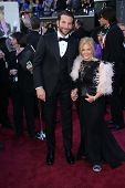 Bradley Cooper and mother Gloria Cooper at the 85th Annual Academy Awards Arrivals, Dolby Theater, Hollywood, CA 02-24-13