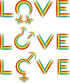 love - gender rainbow