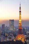 stock photo of minato  - Tokyo Tower in Minato Ward - JPG