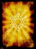 Yom Kippur Grunge Jewish Background With David Star