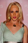 HOLLYWOOD - AUGUST 18: Alexis Arquette at the party celebrating the launch of Paris Hilton's Debut C