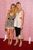 HOLLYWOOD - AUGUST 18: Caleigh Peters and her sister Skye at the party celebrating the launch of Par