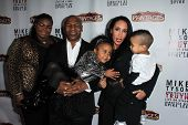 Mike Tyson and family at the Opening of