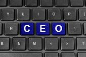 Ceo Or Chief Executive Officer Word On Keyboard