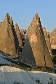 pic of goreme  - These bizarre form rocks are situated nearly Goreme in Cappadocia  - JPG