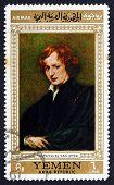 Postage Stamp Yemen 1967 Self-portrait, By Anthony Van Dyck