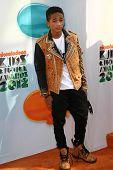 Jaden Smith at the 2012 Nickelodeon Kids' Choice Awards, Galen Center,  Los Angeles, CA 03-31-12