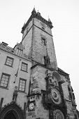 Old Town Hall Tower In Old Town Square In Prague.