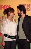 UNIVERSAL CITY - AUGUST 20: Sandra Bullock and Keanu Reeves at the 2006 Teen Choice Awards - Press R