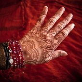 Hand with mehndi