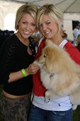 WOODLAND HILLS - APRIL 30: Farah Fath and Kirsten Storms at the Nuts For Mutts Dog Show at Pierce Co