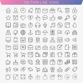 stock photo of lock  - Trendy icon set for Web and Mobile - JPG