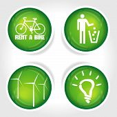 Green set of ecology icons