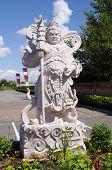 Vaishravana , The Guardian King Of The North  In Thrangu Monastery Richmond , Canada