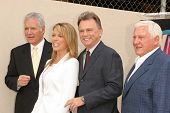 HOLLYWOOD - APRIL 20: Alex Trebek and Vanna White with Merv Griffin and Pat Sajak at the Ceremony ho