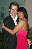 HOLLYWOOD - APRIL 21: Louis Van Amstel and Cheryl Burke at the opening of Leeza's Place Care Center at Leeza's Place Care Center on April 21, 2006 in Hollywood, CA.