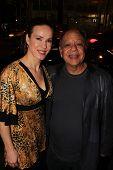 Natasha Rubin and Cheech Marin at the