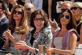 Maria Shriver, Lily Tomlin, Eva Longoria at the Jane Fonda Hand And Foot Print Ceremony as part of t