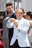 Kevin Richardson and Brian Littrell at the