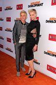 Ellen Degeneres and Portia de Rossi at the