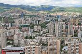 Panoramic view of Sarajevo from Bosmal building