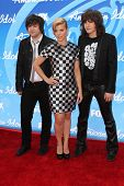 Neil Perry, Kimberly Perry and Reid Perry at the American Idol Season 12 Finale Arrivals, Nokia Thea