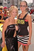 Janell Morlock and Meredith Freeman at the Bullrun Rally 2004 in Hollywood, California. 06-05-04