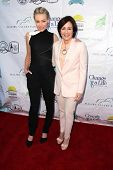 Patricia Heaton and Portia de Rossi at the Compton Jr, Posse Gala honoring Patricia Heaton and Porti