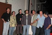 Michael Sponberg, K.C. Armstrong, Artie Lange, Nick Di Paolo, Reverend Bob Levy and Gary Dell'Abate at the FM Talk Brew Ha Ha comedy show in Agoura Hills, CA 06-12-04