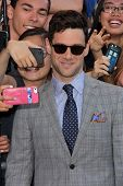 Justin Bartha and fans at