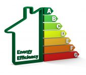 stock photo of wind energy  - Housing energy efficiency rating certification system - JPG