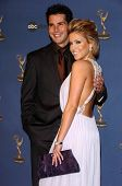 HOLLYWOOD - APRIL 28: Jason Cook and Farah Fath in the press room at The 33rd Annual Daytime Emmy Aw