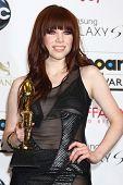 Carly Rae Jepsen at the 2013 Billboard Music Awards Press Room, MGM Grand, Las Vegas, NV 05-19-13