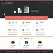 Website Template with Flat UI Design for Your Business